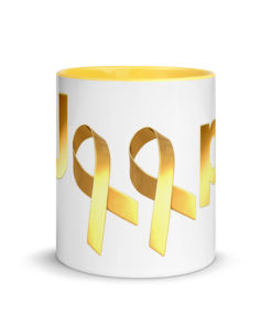 Jeep Childhood Cancer 2 Ribbons Logo Mug