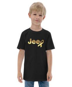 Jeep Childhood Cancer Ribbon Logo Youth Jersey T-shirt T-Shirts Childhood Cancer