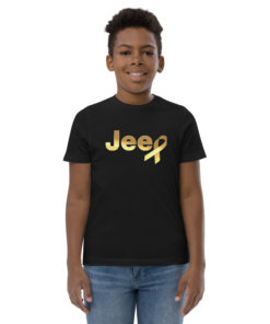 Jeep Childhood Cancer Ribbon Logo Youth Jersey T-shirt
