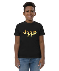 Jeep Childhood Cancer 2 Ribbons Logo Youth Jersey T-shirt