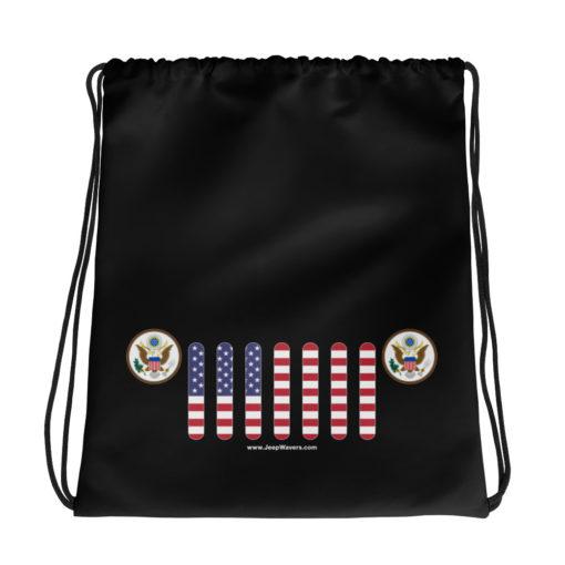 Jeep USA Seal Grill Drawstring bag