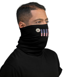 Jeep USA Flag Seal Grill Black Neck Gaiter