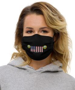 Jeep Idaho Seal Grill Black Face Mask Face Masks Idaho