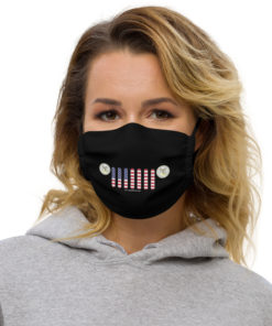 Jeep New Mexico Seal Grill Black Face Mask