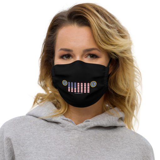 Jeep Oklahoma Seal Grill Black Face Mask