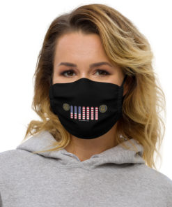 Jeep Rhode Island Seal Grill Black Face Mask