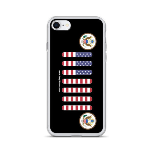 Jeep USA Seal Grill Black iPhone Case