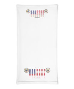 Jeep USA Flag Seal Grill White Neck Gaiter