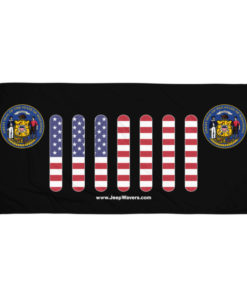 Jeep Wisconsin Seal Grill Black Towel Towels Wisconsin