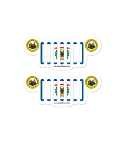 Jeep West Virginia Flag Seal Grill stickers