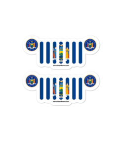 Jeep New York Flag Seal stickers