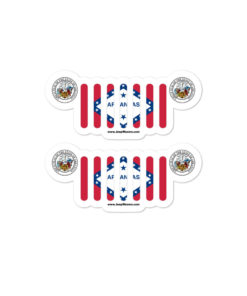 Jeep Arkansas Flag Seal Grill Bubble-free stickers
