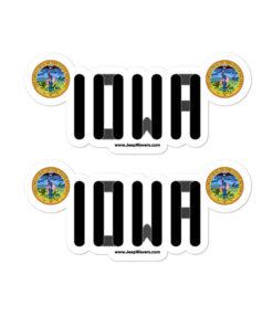 Jeep Iowa Seal Grill stickers