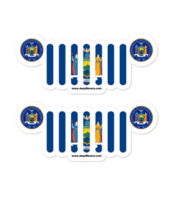 Jeep New York Flag & Seal Bubble-free stickers (X2) Stickers New York