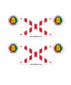 Jeep Alabama Flag Seal Grill Bubble-free stickers