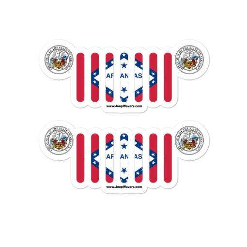 Jeep Arkansas Flag Seal Grill stickers
