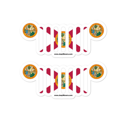 Jeep Florida Flag Seal Grill stickers