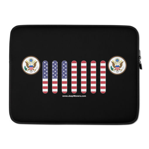 Jeep USA Seal Grill Laptop Sleeve