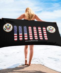 Jeep USA Seal Grill Black Towel Towels USA