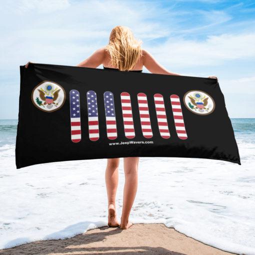 Jeep USA Seal Grill Black Towel