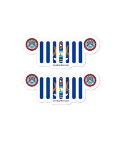 Jeep Michigan Flag Seal Grill stickers