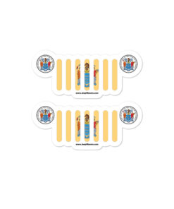 Jeep New Jersey Flag & Seal Grill Bubble-free Stickers (X2) Stickers New Jersey