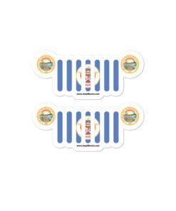 Jeep Minnesota Flag & Seal Grill Bubble-free Stickers (X2) Stickers Minnesota