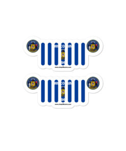 Jeep Wisconsin Flag & Seal Grill Bubble-free Stickers (X2) Stickers Wisconsin