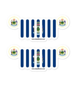 Jeep Maine Flag & Seal Grill Bubble-free Stickers (X2) Stickers Maine