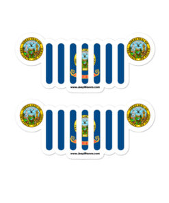 Jeep Idaho Flag Stickers