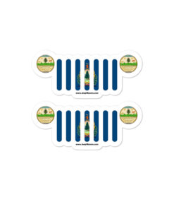 Jeep Vermont Flag & Seal Grill Bubble-free Stickers (X2) Stickers Vermont