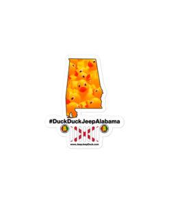 #DuckDuckJeep Alabama Bubble-free stickers Stickers Alabama