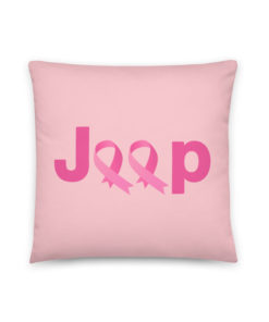 Jeep Breast Cancer Logo 2 Pillow Pillows Breast Cancer