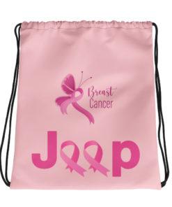 Jeep Breast Cancer Logo 2 Drawstring bag Drawstring