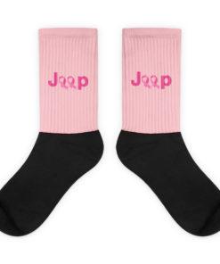 Jeep Breast Cancer Logo 2 Socks Socks Breast Cancer