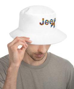 Autism Awareness Jeep Logo Bucket Hat Buckets Autism Awareness
