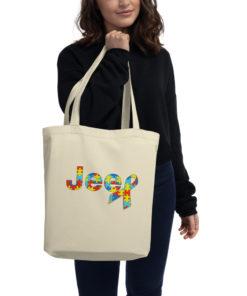 Autism Awareness Jeep Logo Eco Tote Bag Tote Autism Awareness