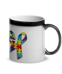 Autism Awareness Jeep Logo Glossy Magic Mug Mugs Autism Awareness