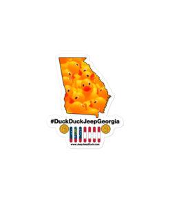 #DuckDuckJeep Georgia Bubble-free stickers Stickers DuckDuckJeep