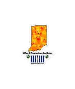 #DuckDuckJeep Indiana Bubble-free stickers Stickers DuckDuckJeep