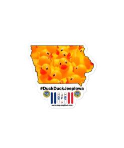 #DuckDuckJeep Iowa Bubble-free stickers Stickers DuckDuckJeep