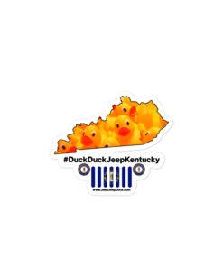 #DuckDuckJeep Kentucky Bubble-free stickers Stickers DuckDuckJeep