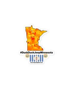#DuckDuckJeep Minnesota Bubble-free stickers Stickers DuckDuckJeep