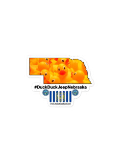 #DuckDuckJeep Nebraska Bubble-free stickers Stickers DuckDuckJeep