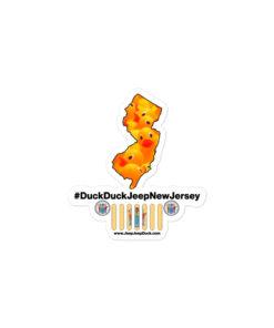 #DuckDuckJeep New Jersey Bubble-free stickers Stickers DuckDuckJeep