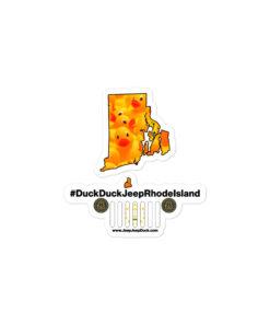 #DuckDuckJeep Rhode Island Bubble-free stickers Stickers DuckDuckJeep