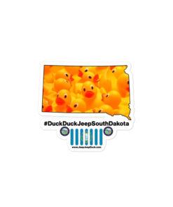 #DuckDuckJeep South Dakota Bubble-free stickers Stickers DuckDuckJeep