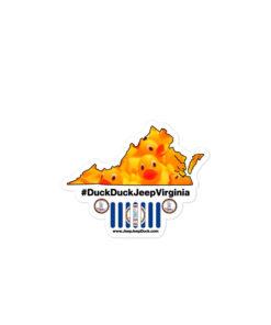 #DuckDuckJeep Virginia Bubble-free stickers Stickers DuckDuckJeep