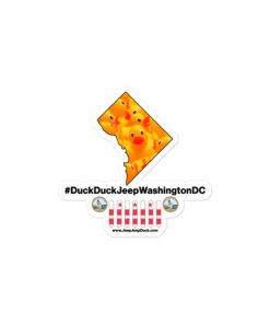 #DuckDuckJeep Washington DC Bubble-free stickers Stickers District Of Colombia