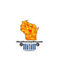 #DuckDuckJeep Wisconsin Bubble-free stickers Stickers DuckDuckJeep